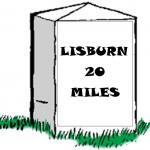 Milestone: Lisburn 20 Miles